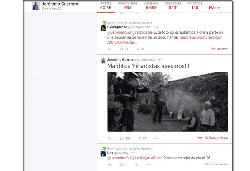 Un tuit del alcalde de El Coronil sobre la represión y la Yihad desata la polémica política