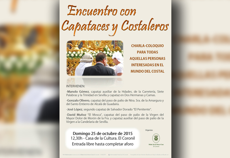 Encuentro con capataces y costaleros este domingo en El Coronil