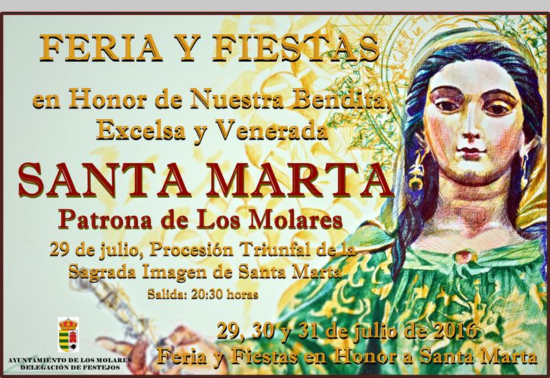 Los Molares culminarán los actos en honor a su patrona Santa Marta con la solemne procesió