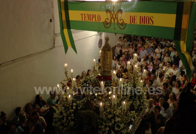 (La Virgen de Fátima recorrió las calles molareñas en el Centenario de las Apariciones