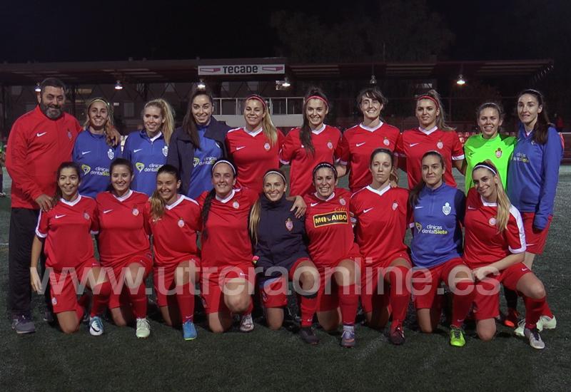 Plantilla del CD Utrera Femenino, antes del encuentro frente a la Selección Andaluza Sub 17