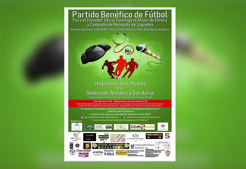 Cartel del acto benéfico. Imagen vía AD Híspalis Fútbol Médico.
