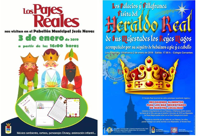 EL HERALDO REAL VISITARÁ LOS PALACIOS Y VILLAFRANCA EL PRÓXIMO 2 DE ENERO