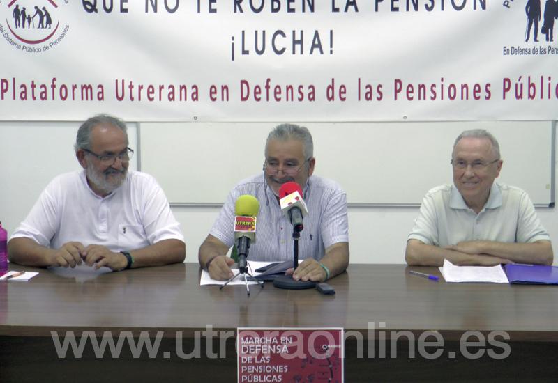 LA PLATAFORMA UTRERANA DE DEFENSA DE LAS PENSIONES SE ADHIERE A LA MANIFESTACIÓN EN DEFENSA DE LAS PENSIONES