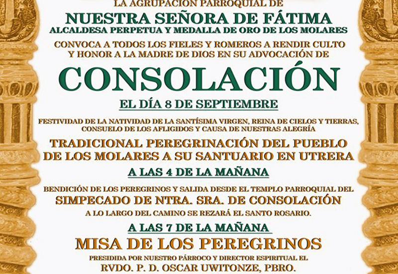 TRADICIONAL PEREGRINACIÓN DEL PUEBLO DE LOS MOLARES AL SANTUARIO DE CONSOLACIÓN