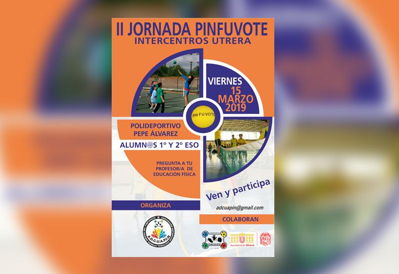 Cartel de la II Jornada Intercentros de Pinfuvote.