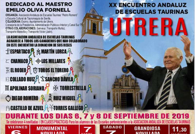 EL XX ENCUENTRO ANDALUZ DE ESCUELAS TAURINAS ARRANCA ESTE VIERNES EN UTRERA