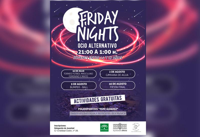 """FRIDAY NIGHTS"""", OCIO ALTERNATIVO PARA ADOLESCENTES DENTRO DEL PROGRAMA """"UTRERA ANTE LAS DROGAS"""""""