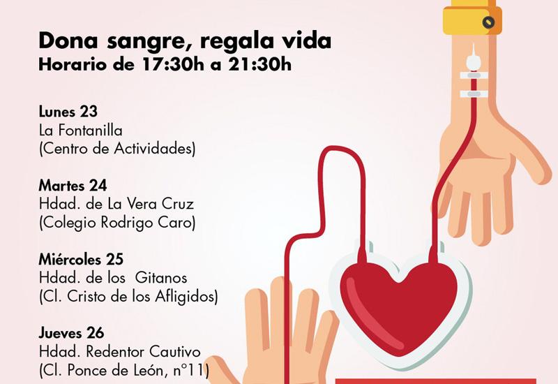 ESTE LUNES COMIENZA UNA NUEVA CAMPAÑA SOLIDARIA DE DONACIÓN DE SANGRE EN UTRERA
