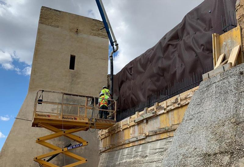 Terminada la tercera fase de la restauración de la muralla del ...