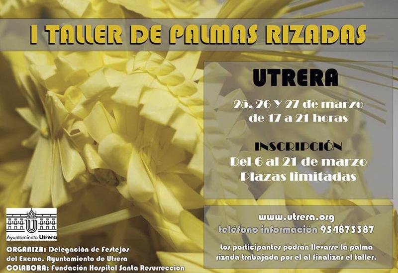 LA DELEGACIÓN MUNICIPAL DE FESTEJOS ORGANIZA EL I TALLER DE PALMAS RIZADAS